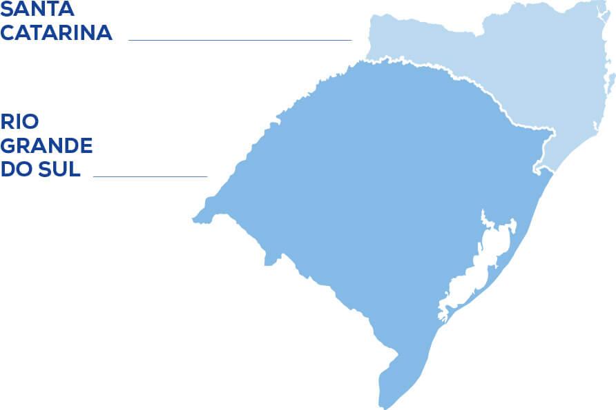 Mapa Áreas de Abrangência